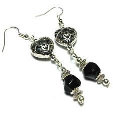 Heart Silver Plated Handmade Clip - On Costume Earrings