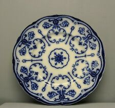 Antique Conway Flow Blue New Wharf Pottery England Dinner Plate 10 Inches