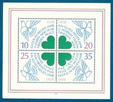 Germany DDR 1983 Original Sheet New Year dove pigeon four-leaf clover MNH mint