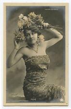 c 1904 Pretty Miss Pepe CASINO De PARIS early undivided back photo postcard
