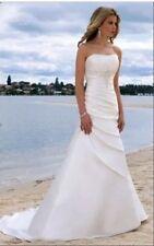 UK 2016 White/Ivory Wedding Dress Bridal gown size 6-16