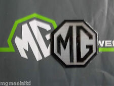 MGTF MG TF Front or Rear Badge Insert Black Silver MG MANIA LTD