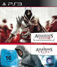 Assassins Creed 1 + 2 Game of the Year Edition Doppel Pack für Playstation 3 PS3