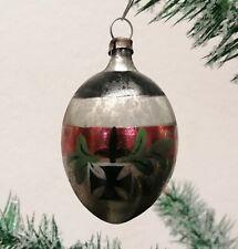 alter Christbaumschmuck >1.WK  KUGEL MIT EK   < old Christmas tree decorations