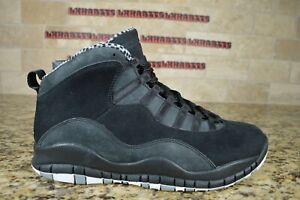 NEW Nike Air Jordan X 10 Retro Stealth 2012 Size 8 310805-003 Black White