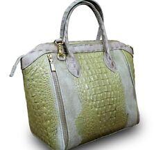 Made in italy real nobuck Dick cuero Alligator cocodrilo más de lo Lady Cube Bag bolso beige