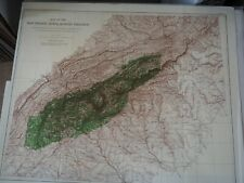 """Antique Map """"Map of the Southern Appalachian Region showing Forest area under.."""""""
