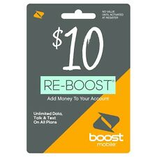 Boost Mobile - Re-Boost $10 Prepaid Phone Card Refilled directly to your mobile