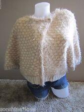 Moth Anthropologie Rabbit Hair Soft Tan Crop Sweater S