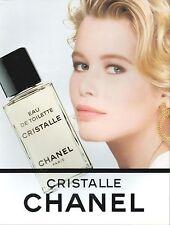 ▬► PUBLICITE ADVERTISING AD CHANEL PARFUM CRISTALLE Claudia Schiffer 1991