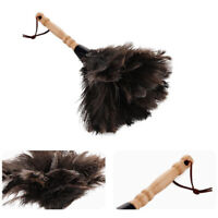 13inch Long Feather Duster Cleaning Tool Wood Handle Washable Ostrich Feathers