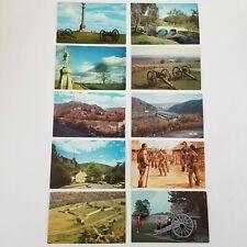 Vtg Maryland Postcards Lot Of 10 Antietam Battlefield Ft Frederick Harpers Ferry