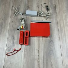 Nintendo Wii Console Red (RVL-001) Bundle With Controller & Cords