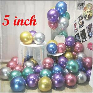 "10-100 5"" PEARL Metallic BALLOONS BALLON helium BALOON Birthday WeddingParty"