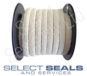 """PTFE Gland Packing Style 2533  Sizes 3.2 mm to 1"""" 25.4 mm 8 Meters"""