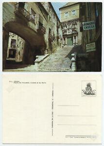 56036 - Gerona - Palacio del Vizcondado y fachada de San Martin - alte AK