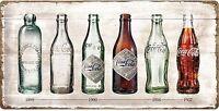 Coca Cola Flasche Evolution Große Geprägtes Metall Zeichen 500mm x 250mm (Na )