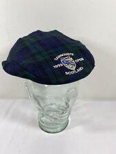 1999 CARNOUSTIE Golf Plaid Tartan Cabbie Newsboy 100% Wool SCOTLAND Hat Cap D6