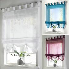 Raffrollo Gardine Vorhang Fenster Dekoration Scheibengardinen Voile Transparent