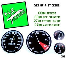 Kids Ride On Pedal Car Speedo Rev Water Temperature Vinyl Stickers Decal dials