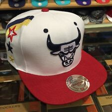 Mitchell & Ness Chicago Bulls Snapback Hat WHITE/USA jordan 7 olympic foamposite