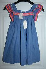 GIRLS' NELLYSTELMA FOR J.CREW EMBELLISHED CHLOE DRESS SIZE 8 BLUE RETAIL $147