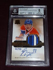 11-12 UD The Cup Ryan Nugent-Hopkins AUTO PATCH Rainbow RC 91/93 BGS 8 AUTO 10