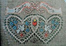 "Dimensions Cross Stitch Instructions 6568 ""Friendship Hearts""  5"" x 7"""