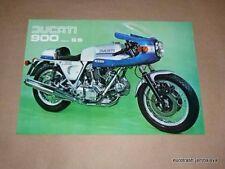 NOS Ducati 900 SS Brochure 1976 bevel twin 900ss