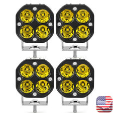4X 40W 3in LED Work Light Bar Spot Pods Yellow Offroad Fog Lamp 4WD ATV Truck US