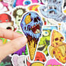 50 Comic Skull Stickerbomb Horror Monster Aufkleber Sticker Mix Decals Retro Eis