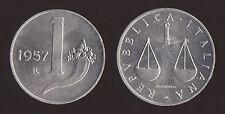 1 LIRA 1957 CORNUCOPIA E BILANCIA - ITALIA
