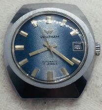 Waltham Vintage Automatic 17 Jewels Blue Dial Mens Watch