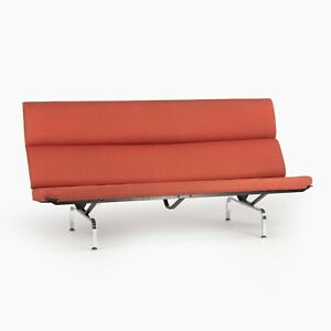 2006 Herman Miller by Ray and Charles Eames Sofa Compact Red Fabric Upholstery