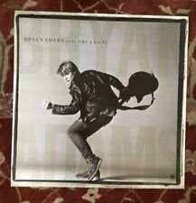 Bryan Adams Cuts Like A Knife rare original promotional poster from 1982