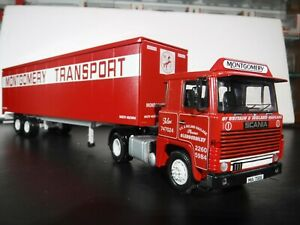 Corgi 1/50 Scale Scania 111 Tandem Axle Box Van Montgomery Transport CC15301