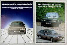 2 Prospekte Oettinger Karosserie technik für VW Golf und Scirocco II Tuning 80er