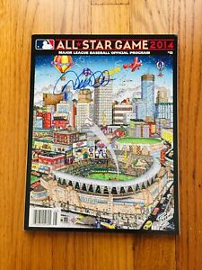 Derek Jeter Signed Autograph Final 2014 All-Star game program, Fazzino, Steiner
