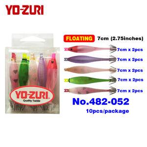 10pcs/pack 5colours Squid Jigs Hooks Lure Bait Suttee 7cm Japan YO-ZURI floating