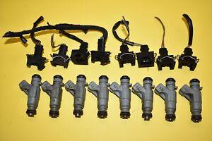 99 00 Mercedes-Benz E430 Fuel Injectors SET V8 OEM