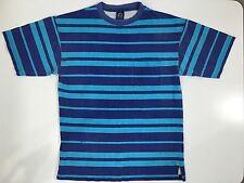 Vtg 80's DASH To The BEACH Men Blue Cotton STRIPE Surf SURFER T-Shirt SKATE M