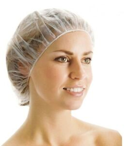 UK ! 10 DISPOSABLE SHOWER BATH CAPS BATHING ELASTIC CLEAR HAIR CARE HAT CAP