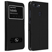 Double window flip standing case for Asus Zenfone Max Plus M1, TPU shell - Black