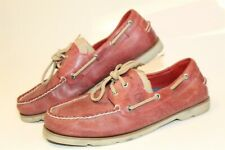 Sperry Top-Sider 10770925 Leeward 2-Eye Mens 10 M Red Leather Boat Dock Shoes