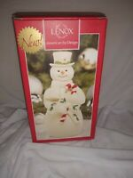 """LENOX - Holiday - Snowman With Candy Cane 6""""1/2 tall mint in box"""