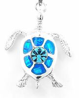 Blue Opal Terrapin Sea Turtle Pendant Jewelry from Taxco Mexico