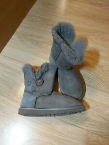 UGG Australia  Bailey Button Boots 5803 UK Size 5.5 GRAY