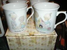 Precious Moments 4 PC Mug Set w/ Original Box 1984 E-9195