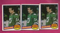 3 X 1980-81 OPC # 272 WHALERS DAVE KEON EX-MT CARD (INV# A4703)