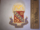 """Sigma Kappa 5"""" Embroidered Shield Crest Patch RETIRED FREE SHIP"""